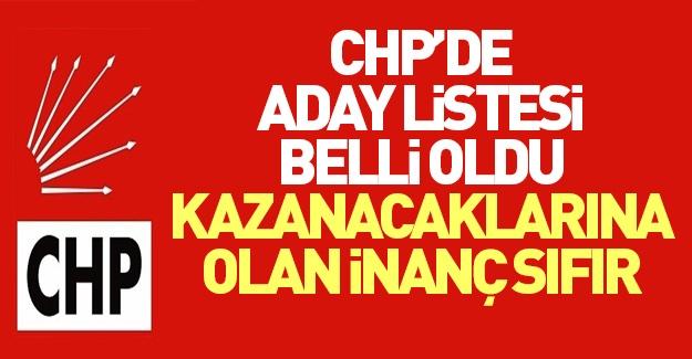 CHP listesi belli oldu! Herkes aday...