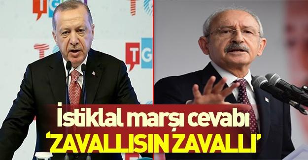 Başkan Erdoğan'dan Kılıçdaroğlu'na İstiklal Marşı tepkisi
