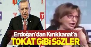 Erdoğan#039;dan Mine G. Kırıkkanat#039;a...
