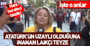 İzmirli teyze Atatürk#039;e uzaylı...